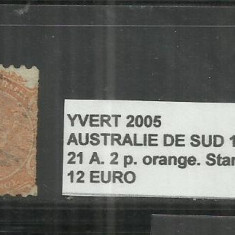 AUSTRALIA 1949 - 21 A. 2 P., Stampilat