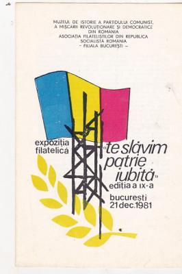 bnk fil Catalog expo filatelica Te slavim, patrie iubita Bucuresti 1981 foto
