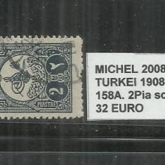 TURCIA 1908 - 158 A. 2 PIA, Stampilat