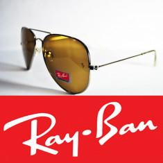 Ochelari Ray Ban - Ochelari de soare Ray Ban, Unisex, Maro, Pilot, Metal