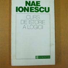 Nae Ionescu Curs de istorie a logicii Bucuresti 1993