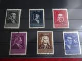 L471-Mari aniversari culturale-serie completa stampilata 1959