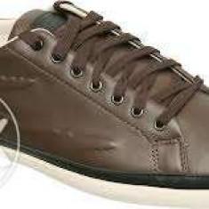 Lacoste originali tenisi brown marimea 43 (adidasi pantofi tenesi) Piele 100% - Adidasi barbati, Culoare: Maro, Piele naturala