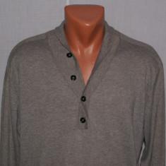 Bluza barbati cu guler tip sal REISS autentic marimea L din bumbac si casmir, Marime: L, Culoare: Din imagine