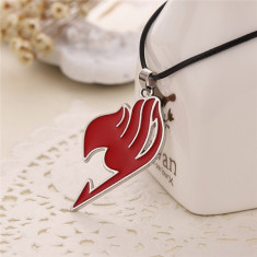 Colier Anime Fairy Tail Rosu - Lantisor fashion