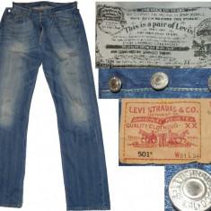 Blugi jeans LEVI'S originali (W31/L34) cod-701130 - Blugi barbati Levis, Culoare: Alta, Lungi