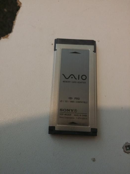 Sony VGP-MCA20 Expresscard SD MMC XD Card Reader foto mare