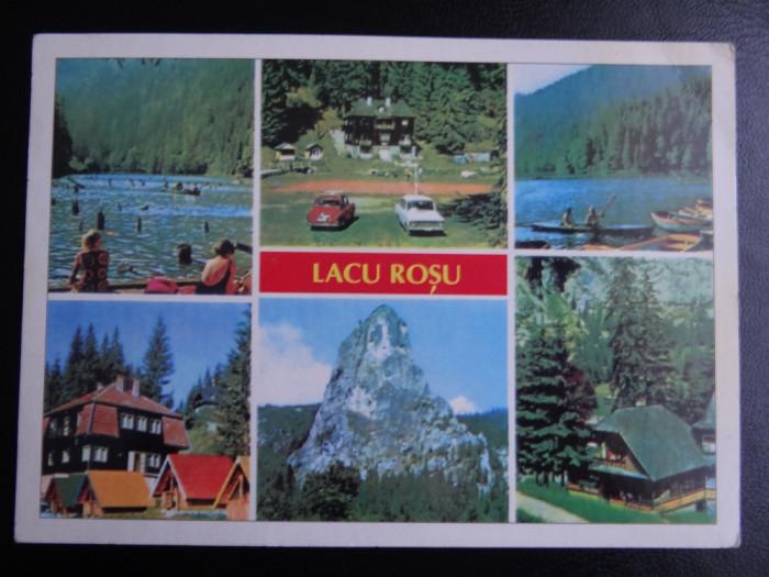 SEPT15 - Vedere/ Carte postala - Lacul Rosu foto mare