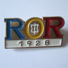 INSIGNA R.O.R.(ASOCIATIA OFITERILOR IN REZERVA SI RETRAGERE) INFIINTATA IN 1928