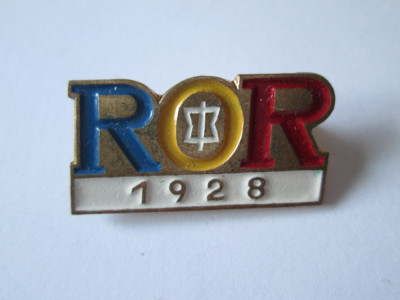 INSIGNA R.O.R.(ASOCIATIA OFITERILOR IN REZERVA SI RETRAGERE) INFIINTATA IN 1928 foto