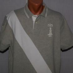 Tricou barbati POLO by RALPH LAUREN autentic Custom Fit marimea XL gri, Maneca scurta, Bumbac