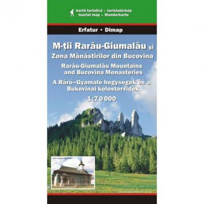 Dimap Harta Turistica Muntii Rarau-Giumalau si Zona Manastirilor din Bucovina foto