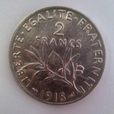 Moneda argint 2 franci / francs 1915 - 10 grame, Europa, An: 1932
