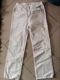 Blugi albi copii, marimea 10-12 ani, model clasic, marca BluKids, REDUSI ACUM!, 30, Fete