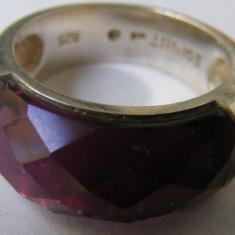 Inel vechi din argint ESPRIT cu piatra colorata