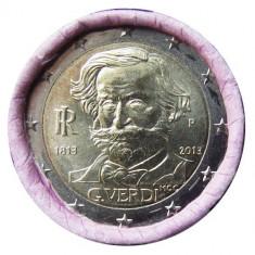 moneda 2 euro comemorativa ITALIA 2013-Verdi, UNC
