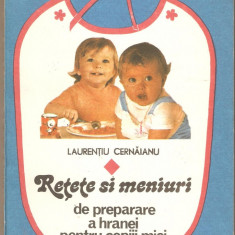 Retete si Meniuri de preparare a hranei pentru copiii mici - Carte Retete pentru bebelusi