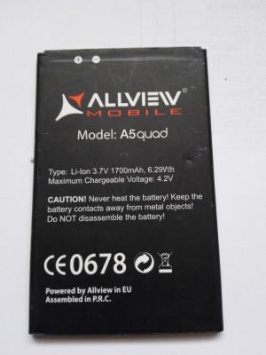 Acumulator Allview  A5 QUAD  / Baterie swap /  / POZE REALE foto