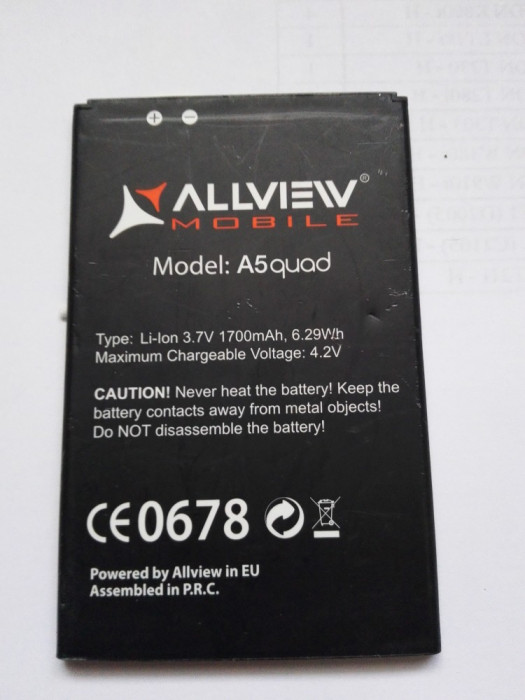 Acumulator Allview  A5 QUAD  / Baterie swap /  / POZE REALE foto mare