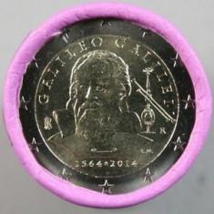 ITALIA moneda 2 euro comemorativa 2014-Galilei, UNC