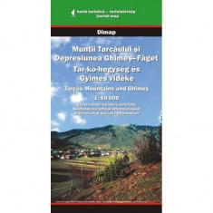 Dimap Harta Turistica Muntii Tarcaului si depresiunea Ghimes Faget