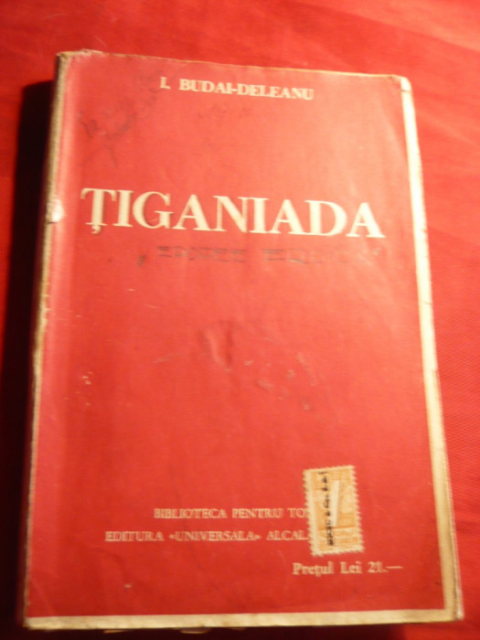 I.Budai-Deleanu - Tiganiada , cu supracoperta BPT 891-892, interbelica foto mare