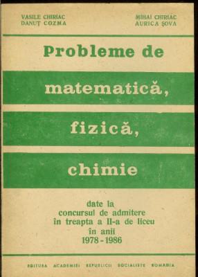 Probleme de matematica, fizica si chimie, admitere treapta II-a de liceu foto