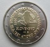 Moneda 2 euro comemorativa SLOVACIA 2011, UNC, Europa, Cupru-Nichel