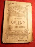 Platon - Criton sau-Despre Datoria Cetateanului cca.1916-  lipsesc 2 file