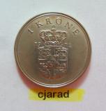 Moneda 1 Coroana - Danemarca 1972 *cod 838, Europa