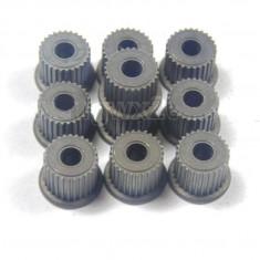Set de 10 roti dintate din metal 27 dinti , pt ax de 3.175mm pt  CNC , ROBOTI