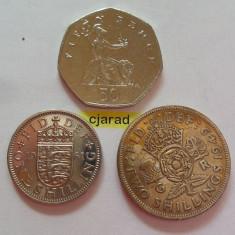 Lot 3 Monede Anglia: 1949, 1961, 2001 *cod 828