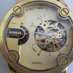 Ceas automatic GOER - Ceas barbatesc Goer, Elegant, Mecanic-Automatic, Inox, Data