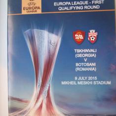 Tskhinvali(Georgia)-FC Botosani(9 iulie 2015)/program de meci, bilet, acreditare - Program meci
