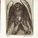 Gravura MARCEL CHIRNOAGA - Pajura singuratatii, Abstract, Cerneala, Suprarealism