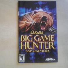 Manual - Cabela's Big Hunter Game - Playstation PS2 ( GameLand )