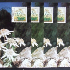 GERMANIA - FLOARE DE COLT, 5 ILUSTRATE MAXIME OBLITERATE - IM 0387, An: 1976, Europa