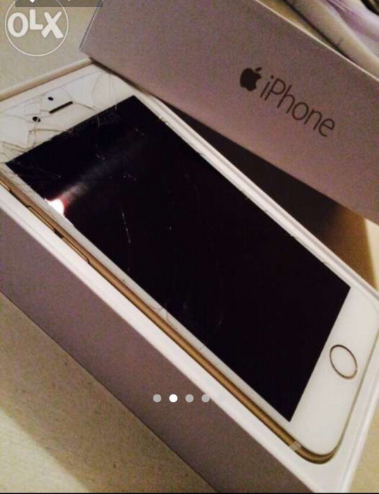 Vând iPhone 6 gold 64gb lcd spart foto mare