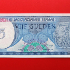 SURINAME - 5 Gulden 1982 - UNC - bancnota america