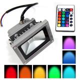 Cumpara ieftin SPOT LED 10 WATT PUTERE RGB FULL COLOR+TELECOMANDA INCLUSA,INTERIOR/EXTERIOR.