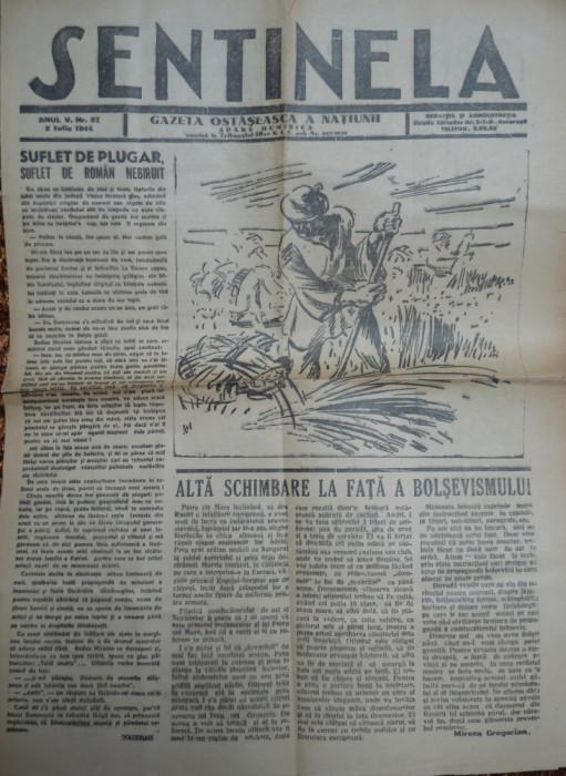Sentinela , gazeta ostaseasca a natiunii , 2 Iunie 1944 foto mare
