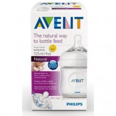 Biberon Philips Avent Natural PP, +0 luni, 125 ml