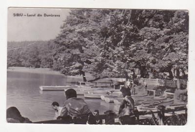 bnk cp Sibiu - Lacul din Dumbrava - circulata foto