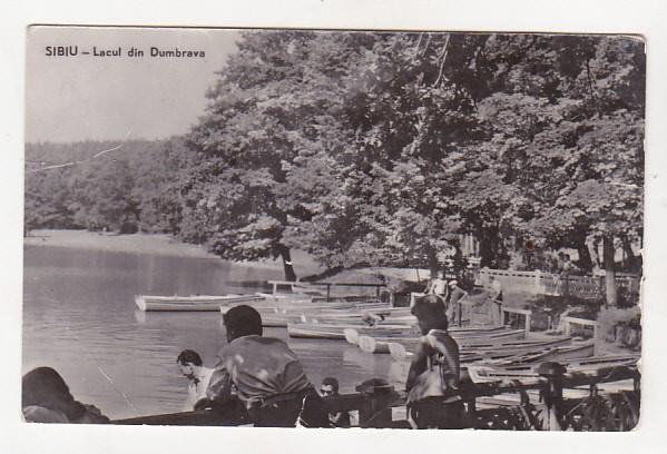 bnk cp Sibiu - Lacul din Dumbrava - circulata foto mare