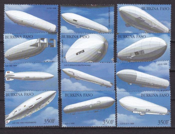 Burkina Faso  2000  aviatie zeppeline  MI  1788-1790    MNH    w12 foto mare