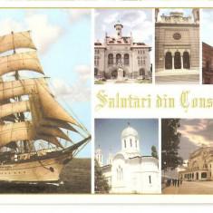 CPI (B5689) SALUTARI DIN CONSTANTA. CORABIE - Carte Postala Dobrogea dupa 1918, Necirculata, Fotografie