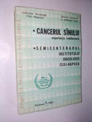Cancerul sanului - experienta romaneasca - 1981 Vol. 7 foto
