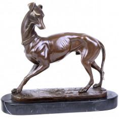 OGAR - STATUETA DIN BRONZ PE SOCLU DIN MARMURA - sculptura reproducere, Animale