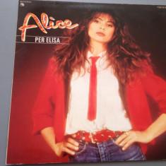 ALICE - PER ELISA (1981/ EMI REC / RFG) - DISC VINIL/VINYL/IMPECABIL - Muzica Pop emi records