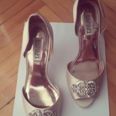 Pantofi mireasa badgley mischka - Rochie de mireasa printesa